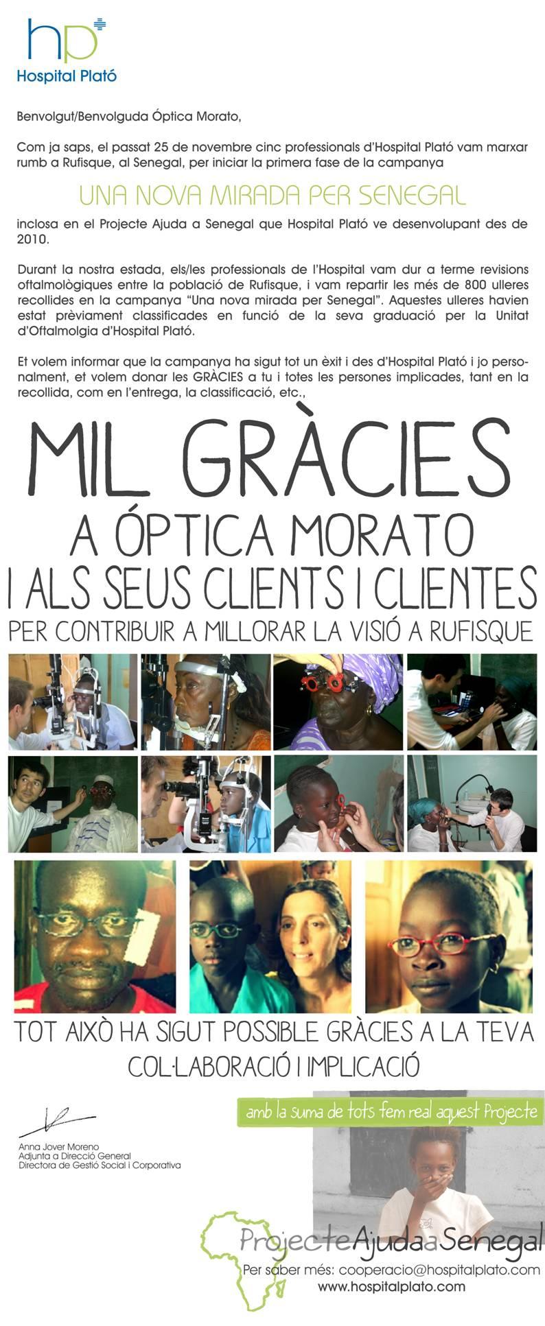 Campaña donde se repartieron 800 gafas en el Senegal.